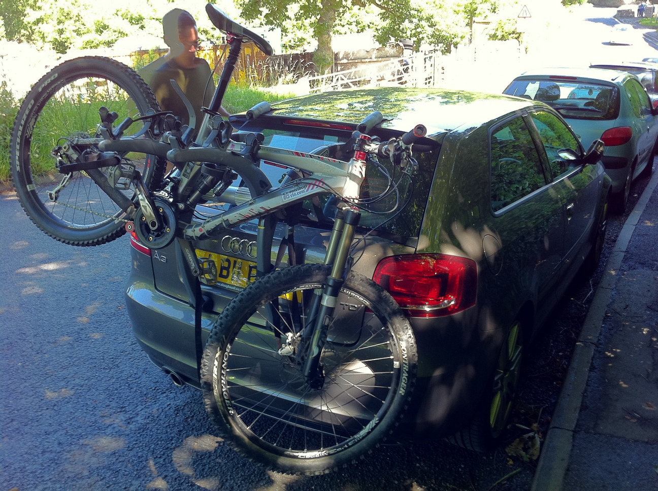audi a3 with bike rack
