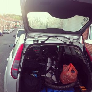 ford focus estate with bikes and kit in