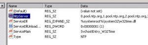 registry time settings