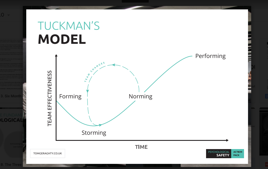 Tuckmans model of team performance